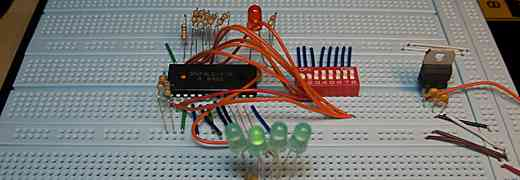 Playing with 74LS181, a DIP-switch and some LEDs
